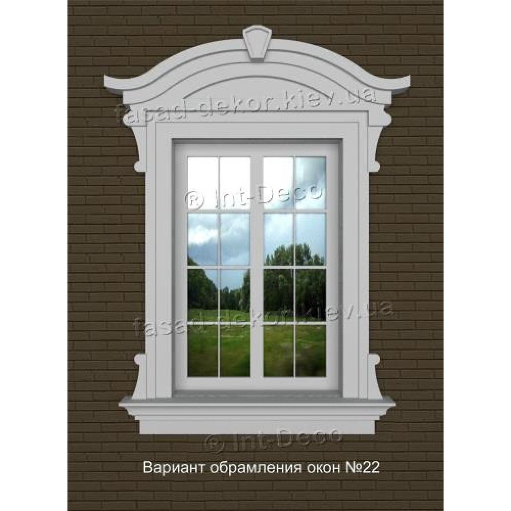 Фасад дома варианты отделки окон на фасаде № 22